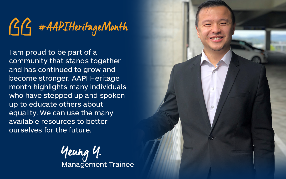 Spotlight on AAPI Heritage Month: Yeung Y., Management Trainee